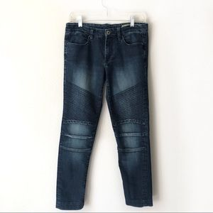 BKANK NYC SKINNY MOTO distressed split hem jeans